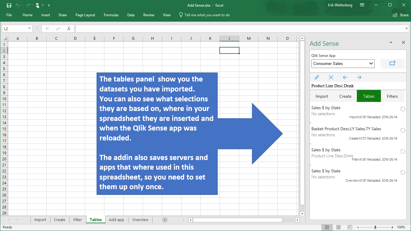 Add Sense for Excel